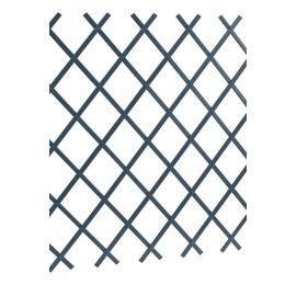 TREILLAGE EXTENSIBLE PVC - LATTES L 0.5x1.5m - anthracite